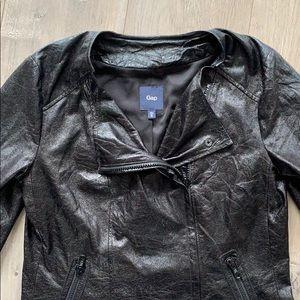 Gap Vegan Leather Light Jacket XS